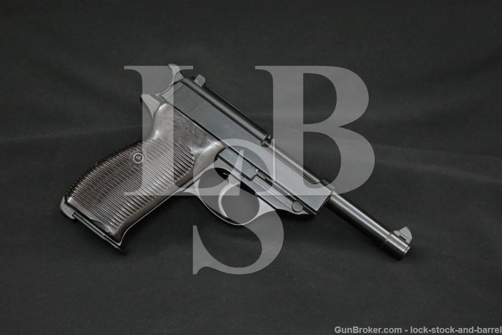 WWII German Walther AC-41 AC41 P.38 P38 P-38 9mm Semi-Auto Pistol, 1941 C&R