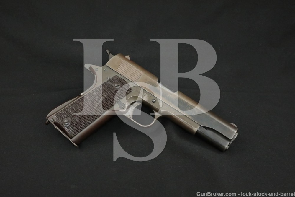 WWII U.S. Colt Model 1911-A1 M1911A1 .45 ACP Semi-Auto Pistol, MFD 1942 C&R