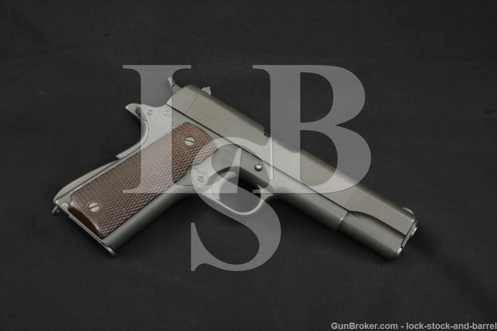 WWII U.S. Colt Model 1911-A1 M1911A1 .45 ACP Semi-Auto Pistol, MFD 1943 C&R