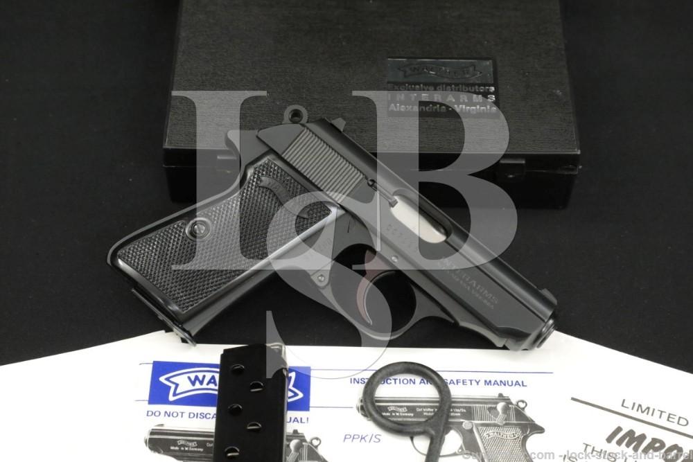 Walther Interarms PPK/S PPK-S PPKS .380 ACP 9mm Kurz Semi Auto Pistol