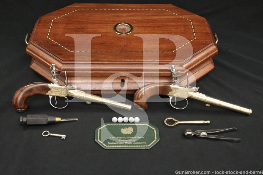 Williamsburg US Historical Thomas Jefferson Flintlock Pistols, ATF Antique