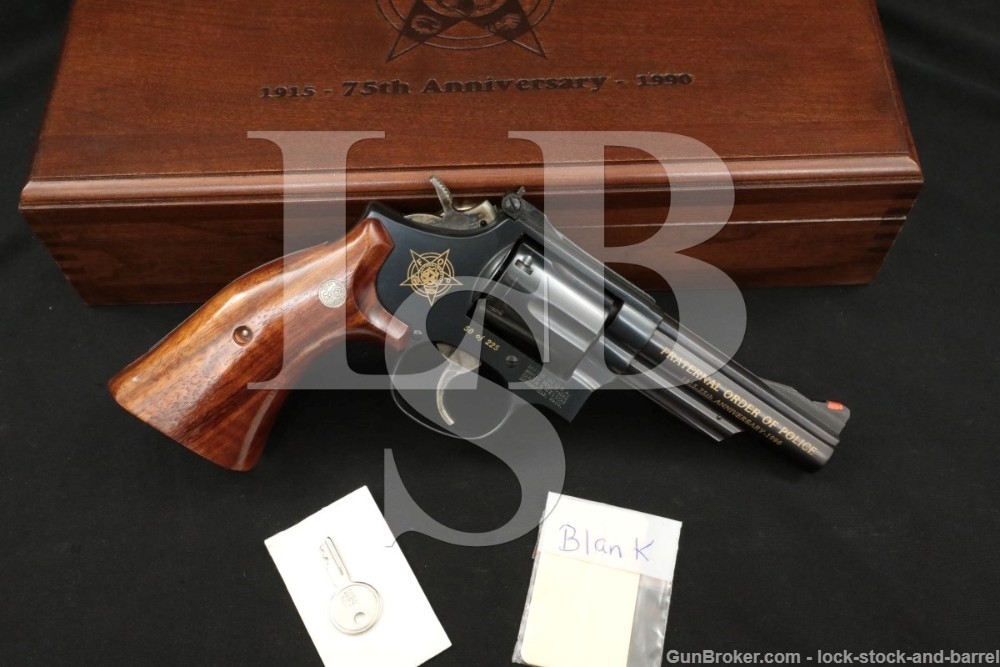 50 of 225 Smith & Wesson Fraternal Order of Police 19-6 .357 Mag Revolver