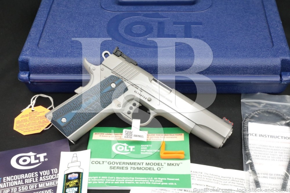 Colt Gold Cup Trophy O5070GCL Stainless .45 ACP 1911 Semi-Automatic Pistol