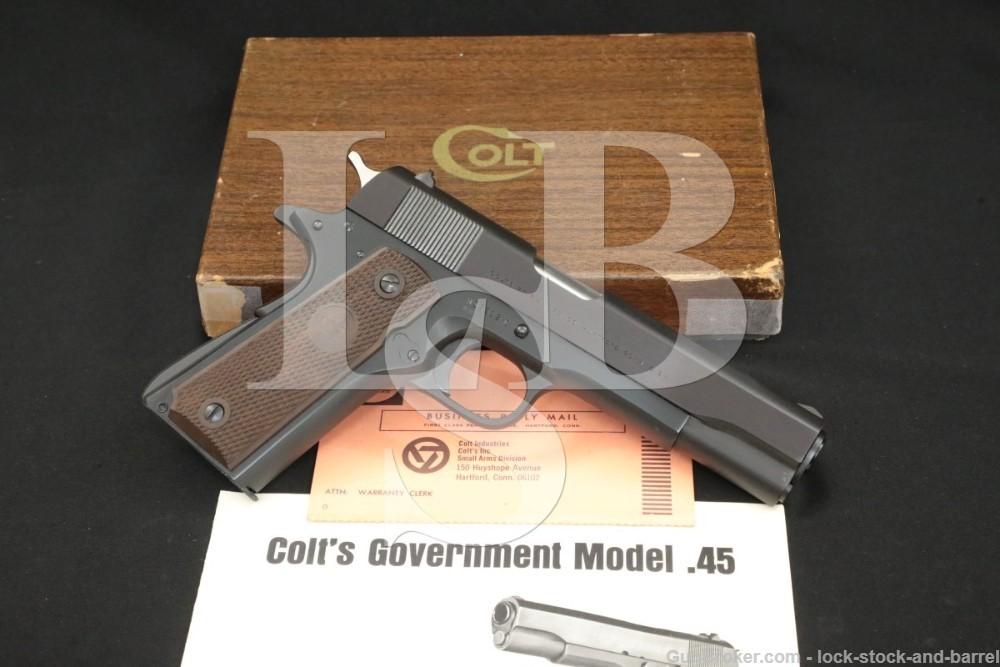 Colt Government Model 1911 BB Pre-Series 70 .45 ACP Semi-Auto Pistol C&R