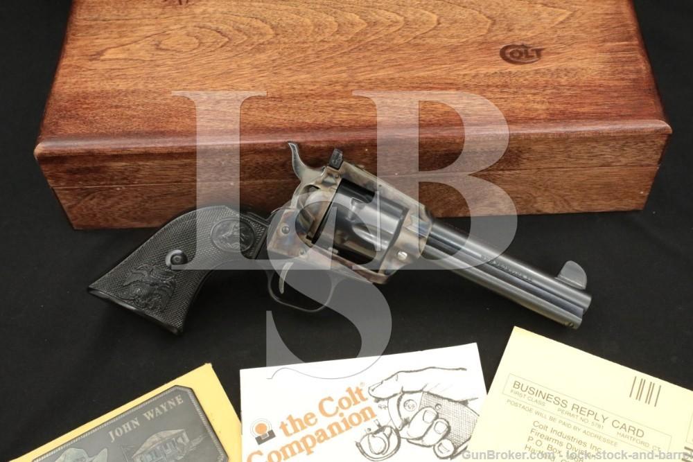Colt New Frontier The Duke John Wayne .22 LR Revolver & Case, 1983 ATF C&R
