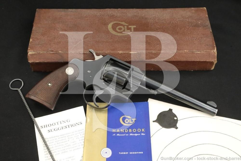 Colt Official Police .22 Long Rifle DA/SA Double Action Revolver, 1952 C&R