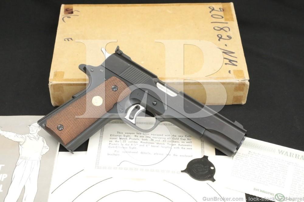 Colt Pre-Gold Cup National Match 1911 .45 ACP Semi-Auto Pistol, 1967 C&R