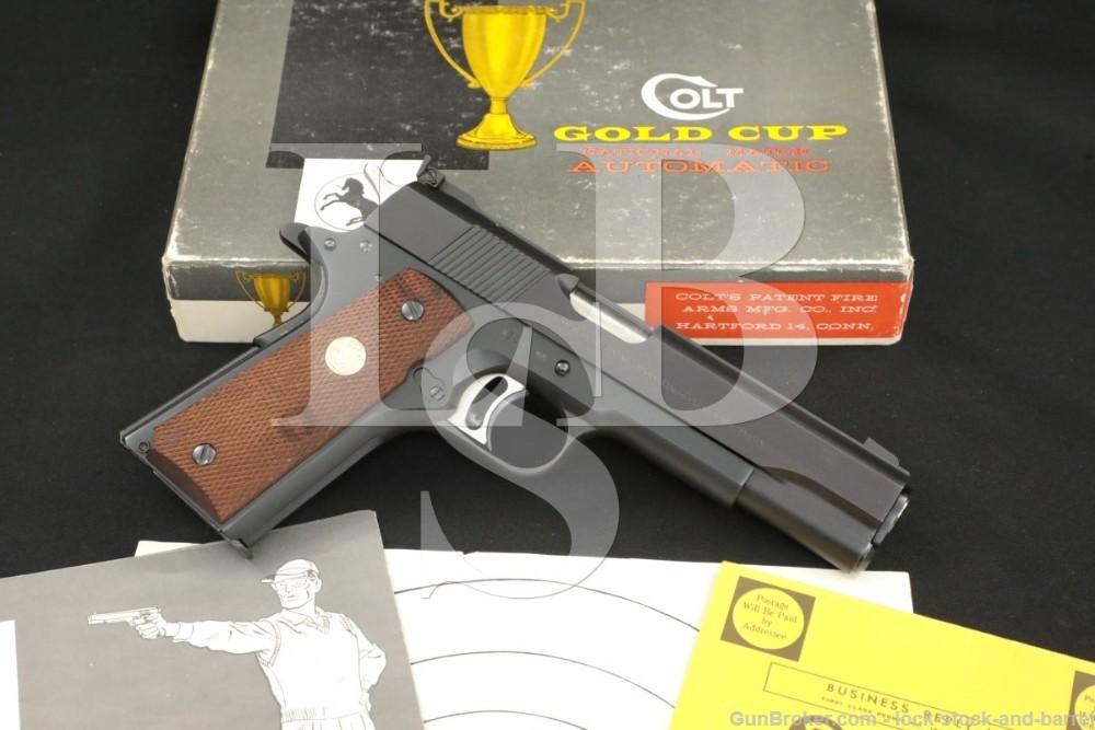 Colt Pre-Gold Cup National Match 1911 .45 ACP Semi-Auto Pistol, 1969 C&R