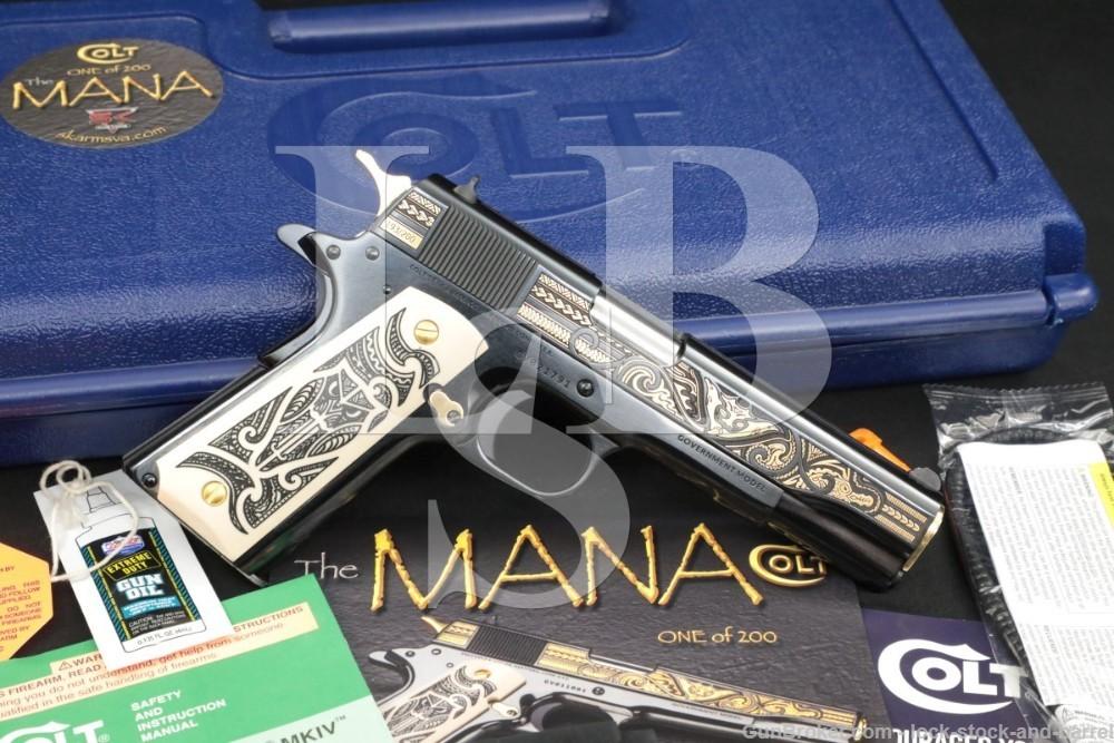 Colt SK Customs The Mana 193/200 1911 .38 Super Semi-Automatic Pistol, 2020
