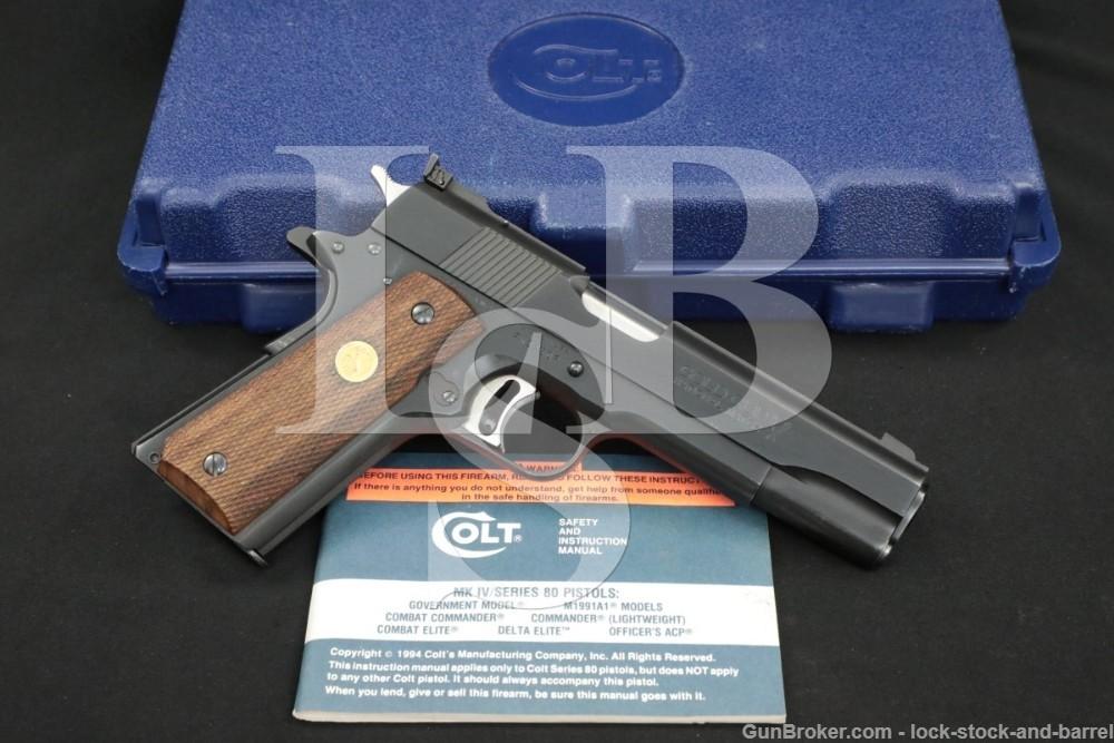 Colt Series 80 Gold Cup National Match 1911 .45 ACP Semi-Auto Pistol, C&R