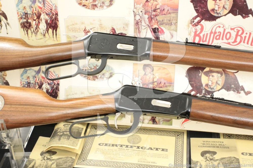 Consecutive Pair Winchester 94 Buffalo Bill CE .30-30 Lever Rifles 1968 C&R
