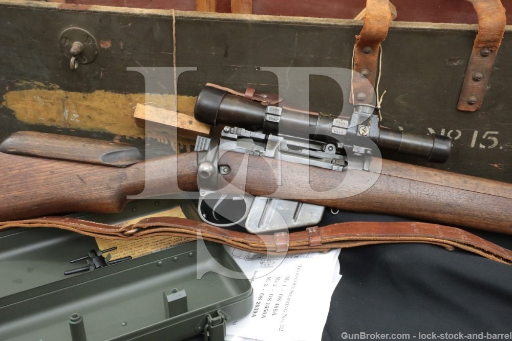 Enfield No4 MkI T Sniper Rifle Scope .303 British Bolt Action Wood Case C&R