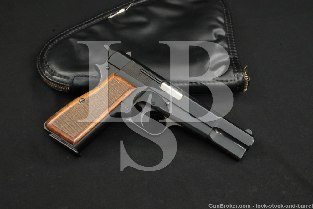 """FN Browning Hi-Power 9mm Luger 4 5/8"""" Semi-Automatic Pistol, MFD 1974"""