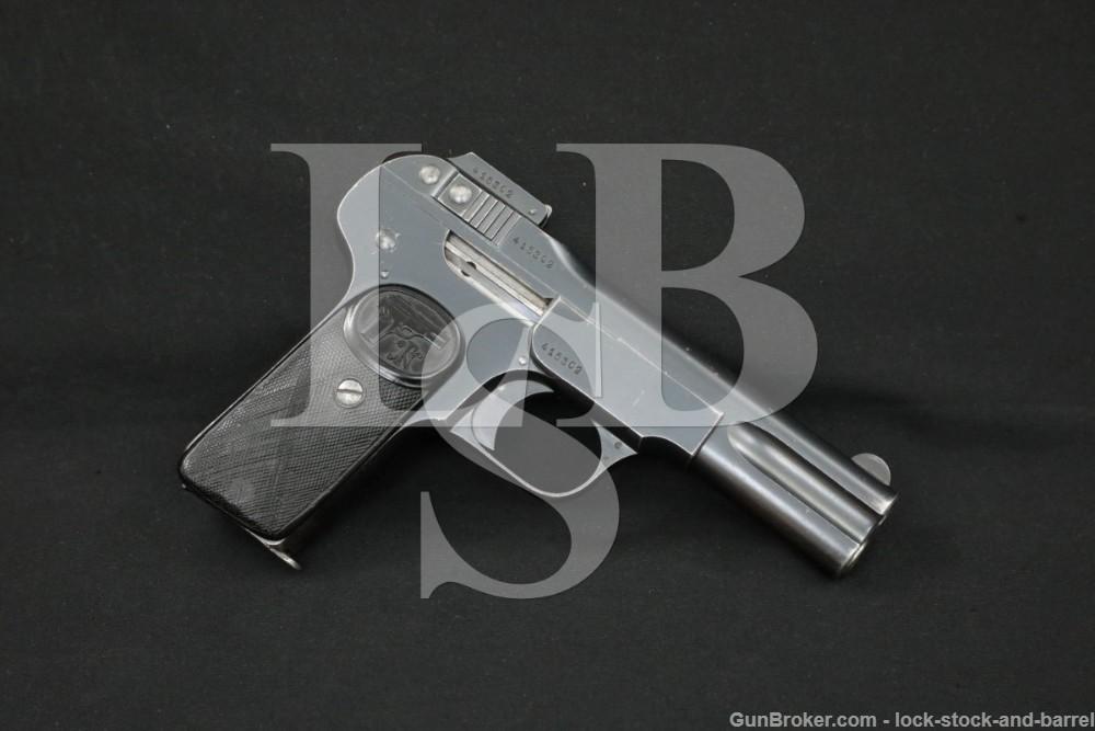 FN Browning Model 1900 7.65mm .32 ACP 4″ Semi-Auto Pistol MFD 1907-1910 C&R