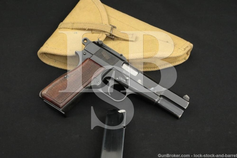 FN Browning Pre-War 1935 GP Hi Power 9mm Semi-Auto Pistol MFD 1935-1939 C&R