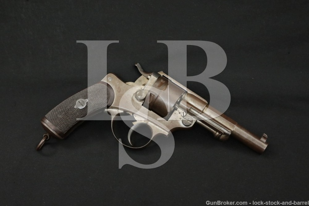 French St. Etienne Model MLE 1873 Army 11x17mmR DA/SA Revolver 1882 Antique