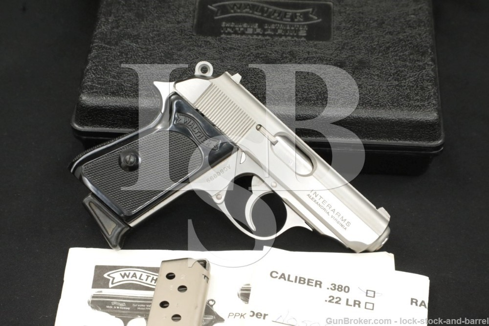Interarms Walther Modell PPK Stainless .380 ACP Semi-Automatic Pistol, 1990