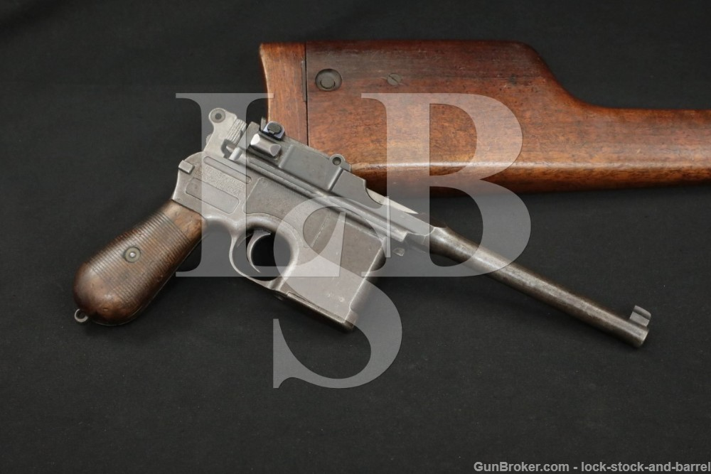 Mauser C96 C-96 Broomhandle 7.63x25mm .30 Semi-Automatic Pistol, 1914 C&R