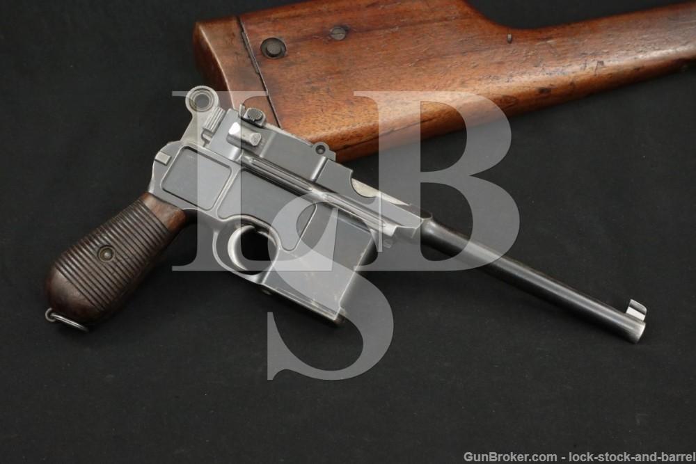 Mauser C96 C-96 Broomhandle Large-Ring 7.63mm .30 Semi-Auto Pistol 1899 C&R