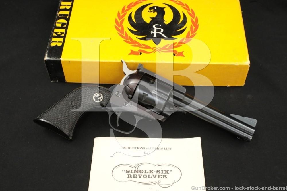 Ruger Pre-Warning 3-Screw Flat-Top Blackhawk .357 Magnum Revolver, 1956 C&R