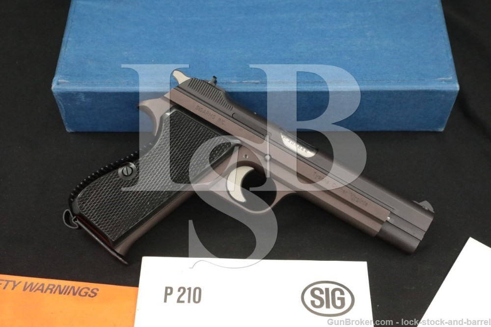 SIG SigArms Model P210-2 9mm 4.75″ Semi-Automatic Pistol MFD 1983