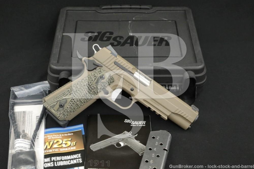 Sig Sauer Scorpion 1911 1911-45-SCPN .45 ACP Semi-Automatic Pistol MFD 2014