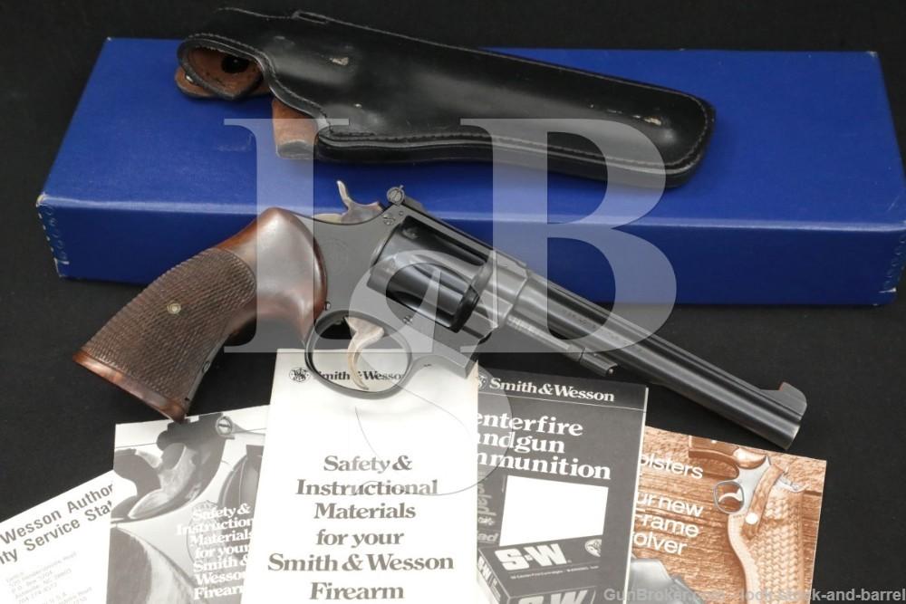 Smith & Wesson S&W K-22 Masterpiece Pre-Model 17 22 LR 6″ Revolver 1951 C&R