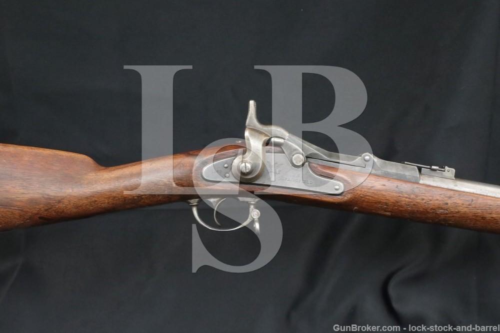 Springfield Trapdoor 1868 .50-70 Govt Single Shot Rifle, MFD 1869 Antique