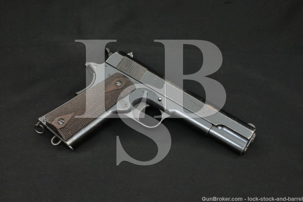 WWI Inscribed British Colt Commercial Government Model 1911, MFD 1915 C&R