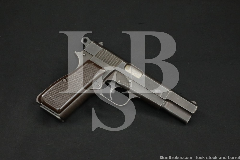 WWII Nazi Marked FN M1935 Hi Power Fixed Sight 9mm Semi-Auto, MFD 1944 C&R