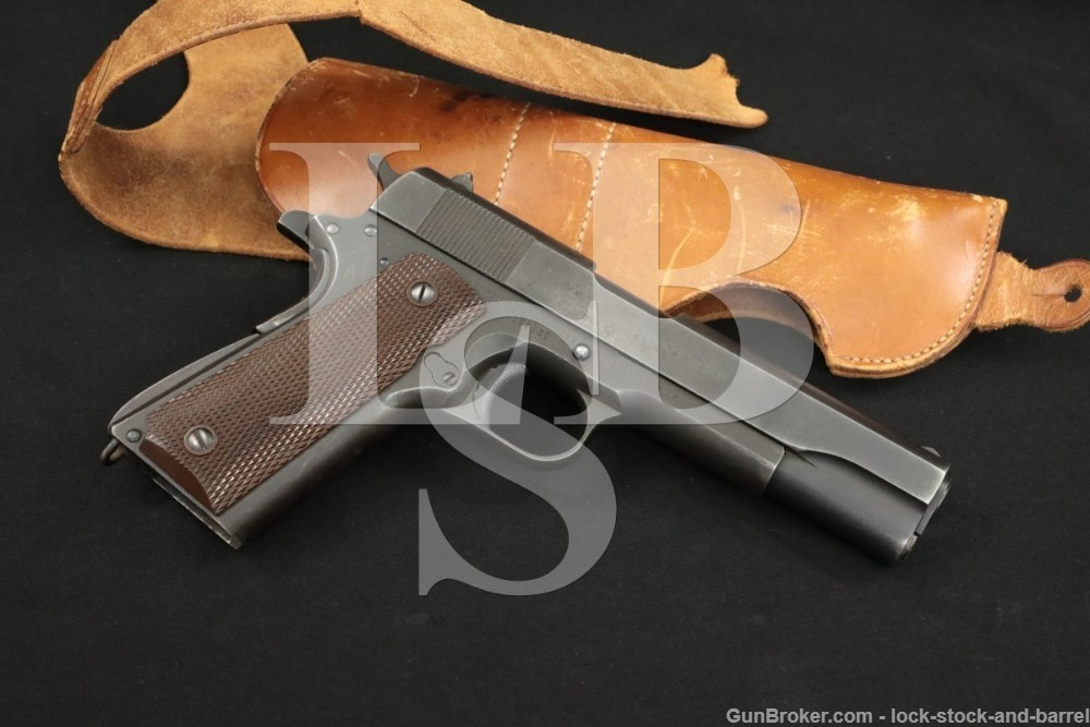 WWII US Remington Rand 1911A1 1911-A1 .45 ACP Semi-Auto Pistol, 1943 C&R