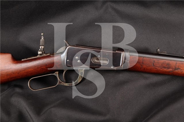 3rd Year! Winchester 1894 Takedown .38-55 26″ Blue Lever Action Rifle & Lyman Peep, MFD 1896 Antique