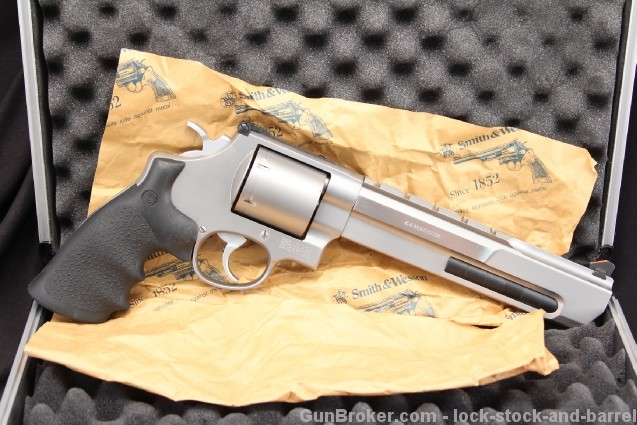 Smith & Wesson, S&W Performance Center Model 629-6, 7 1/2″ Stainless .44 Magnum Double Action Revolver