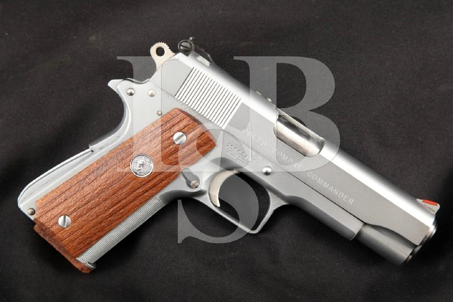 "A.D. Swenson Custom Colt Model Series '70 Combat Commander, Hard Chrome 4 ¼"" -- BEAUTIFUL SA Semi-Automatic Pistol, MFD 1971"