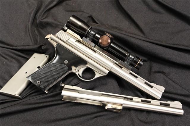 AMT / TDE 180 & 160 .44 Auto Mag AMP & .357 AMP Stainless Semi Automatic Pistol & Scope