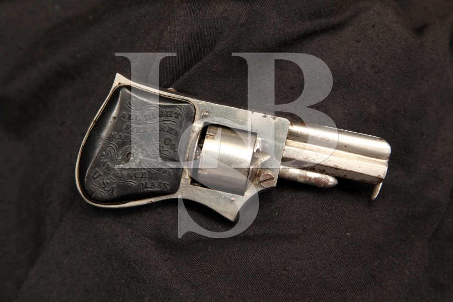 All Right Firearms Co. .22 Short 'Little All Right' Squeezer Palm Revolver - Antique