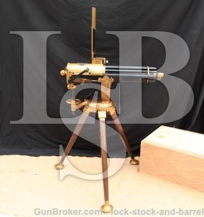 Anderson Guncraft 1874 .45-70 Gatling Camel Gun FULL-SIZE Repro., Bruce Feed Adapter & Tripod 1990