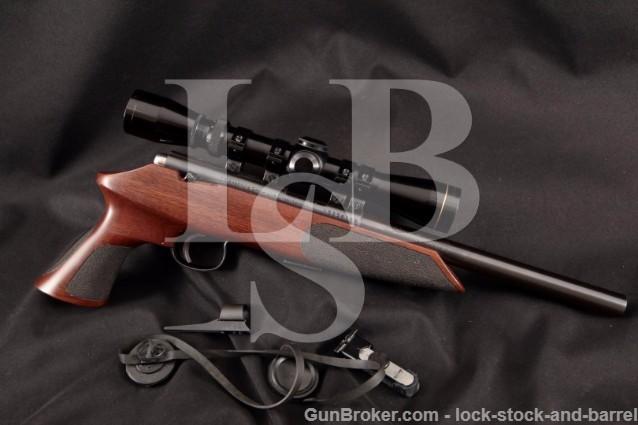 Anschutz Exemplar Target Model 1416P, Blue 10″ .22 Bolt Action Pistol & Leupold Scope, MFD 1988