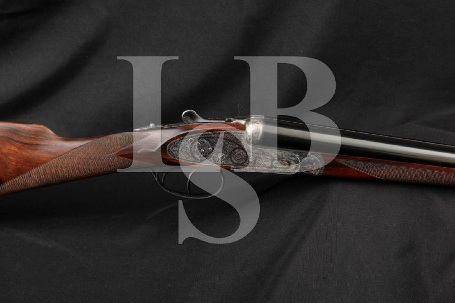 "Armas Garbi / William Larkin W.L. Moore No. 103(A) 103-A, Engraved Blue & Case Colored 26"" Side by Side 28 Ga. SXS Fine European Shotgun, MFD 1981"