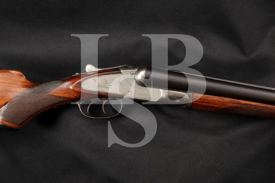 "Baker Gun Co. Model R Grade Krupp, Engraved Blue & Case Colored 30"" Side by Side Dual Trigger Shotgun MFD 1906-13 C&R"