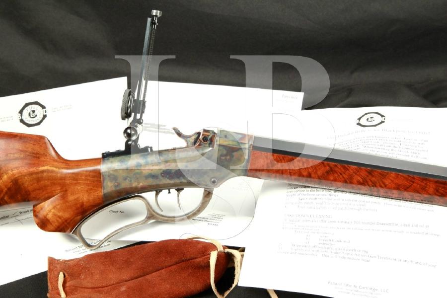 """Ballard Rifle Co. Model No. 7 Long Range Falling Block Single Shot Rifle, Blue & Case Color 34"""" Double Set Triggers, Soule Sights, MFD 2002 - .45-110 Sharps"""