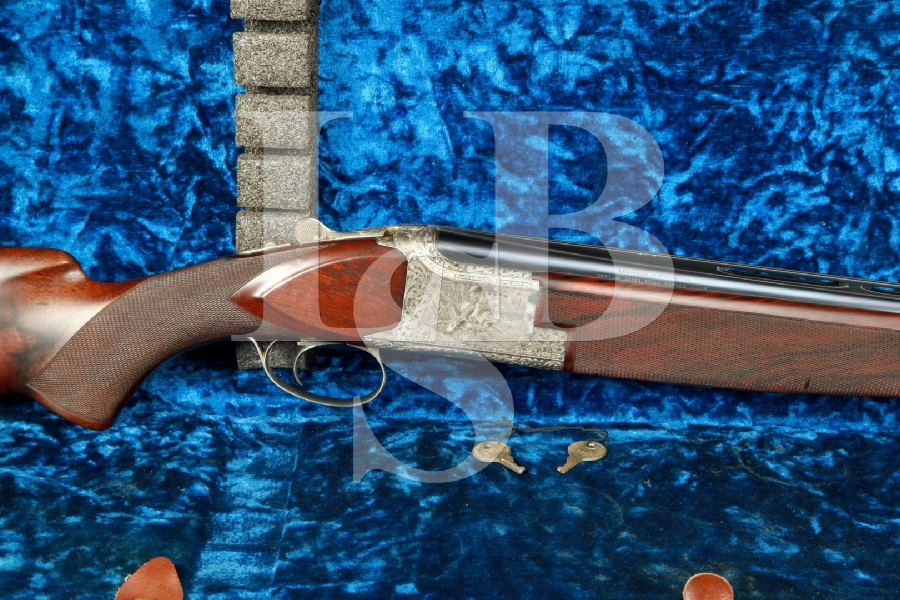 "Belgian FN Browning C. Baerten Master Engraved Superposed Diana Grade 28"" 12 Gauge Over/Under O/U Shotgun & Case, MFD 1974"
