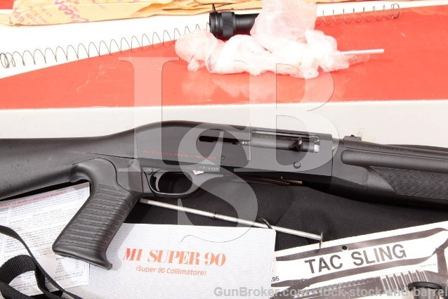 Benelli HK M1 Super 90 18 1/2″ Semi-Automatic Shotgun, Box & More 1995 12 Gauge