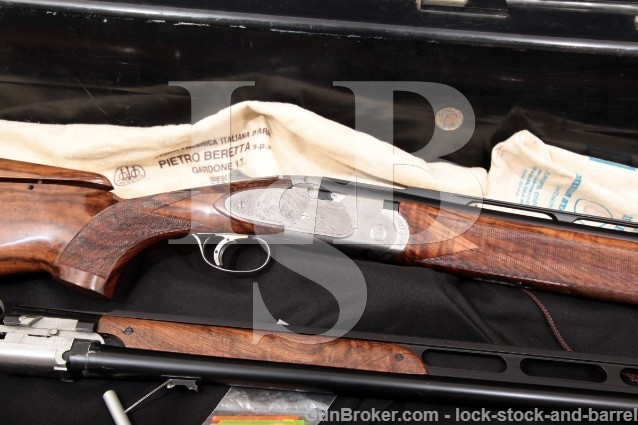 "Beretta 687 EELL Bottega Giovanelli Engraved 12 Ga 30"" & 32"" O/U & Un-Single Barrel Set Shotgun, Case"