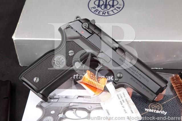 Beretta 8040 Cougar F, Black 3.6″ Pistol & Box 8040F SA/DA Semi-Auto, MFD 1999 .40 S&W