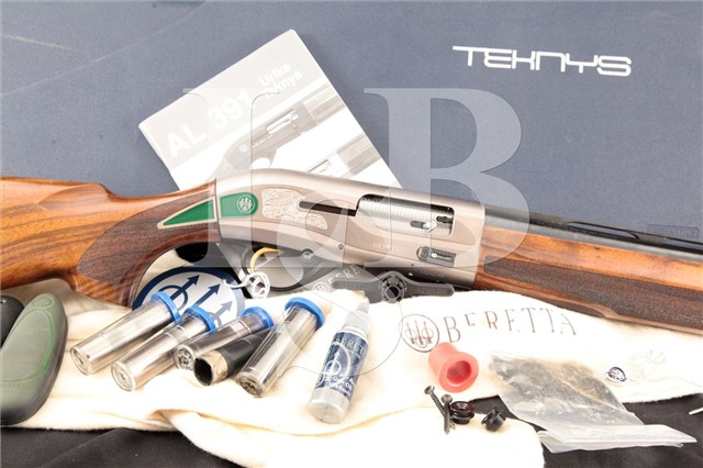 "Beretta AL391 AL 391 Teknys Gold, 28"" 12 Ga Magnum Semi Automatic Sporting Clay Shotgun & Case, 2003"