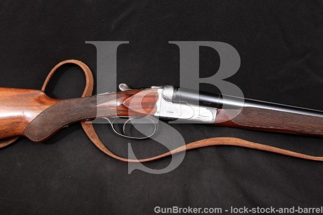 "Beretta Model 410E 410-E, Blue & Silver 28"" 20 Ga SxS Side By Side Double Barrel Shotgun MFD 1955"