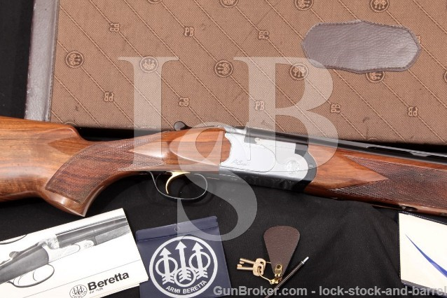 Beretta S680 S-680 Trap 30″ Vent-Rib SST O/U Blue & Silver Over Under Shotgun & Case 1980 12 Gauge