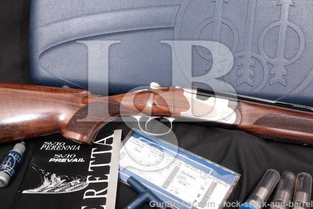 "Beretta SV10 SV-10 Prevail III 3 Kick-Off 12 Gauge Blue & Coin 30"" O/U Over Under Shotgun, MFD 2011"