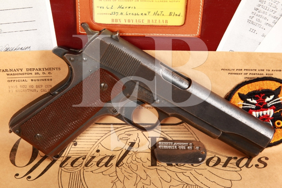 Bringback Remington Rand Model 1911A1 M1911-A1 5 INCH Semi-Automatic Pistol & Paperwork, 1943 C&R